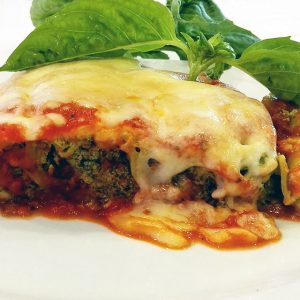 "Cannelloni ""Vegetariani"" massa feita a Mão recheados Ricotta e Espinafres"